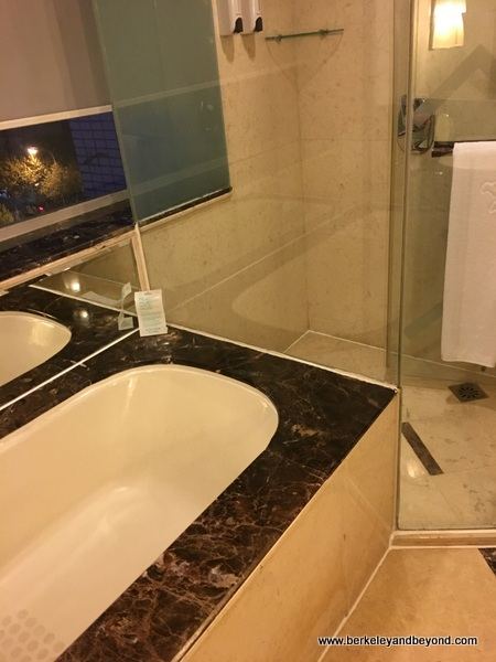 guest room bathroom at Tibet Hotel Chengdu in Chengdu, China