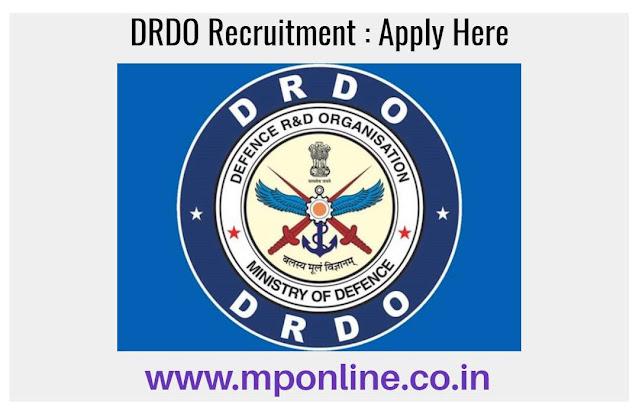 DRDO Vacancy 2020 : Apply Online