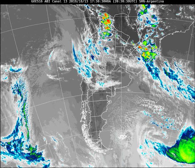 Advertencia meteorológica este lunes con tormentas ocasionalmente fuertes