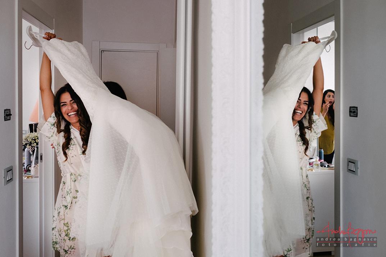 bride getting ready wedding gown documentary photographer