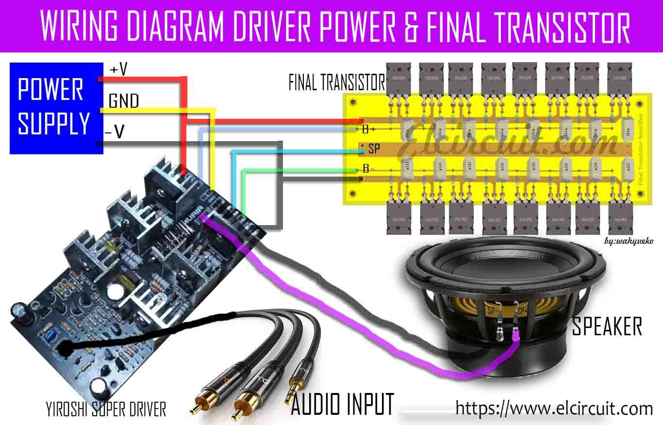 Super Power Amplifier Yiroshi Audio 1000 Watt Electronic Circuit 25 Based Mosfet Wiring Diagram Driver And Final Transistor