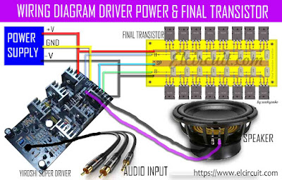 Wiring Diagram Driver Power Amplifier and Final Power Transistor
