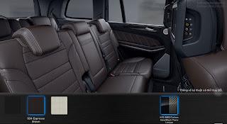 Nội thất Mercedes AMG GLS 63 4MATIC 2018 màu Nâu Espresso 534