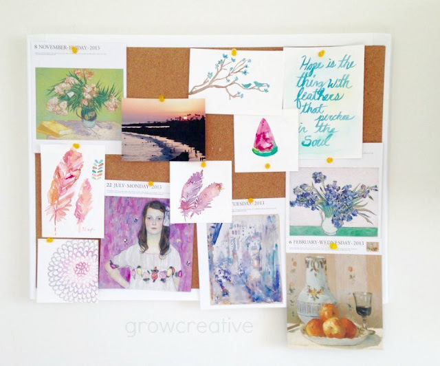 color inspiration bulletin board