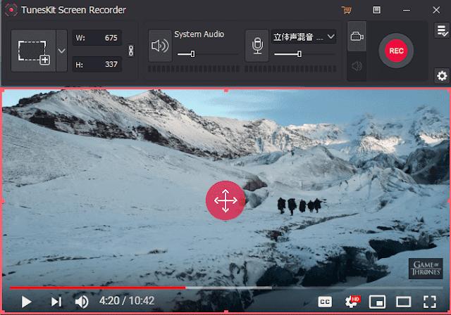 Screenshot TunesKit Screen Recorder 1.0.1 Full Version