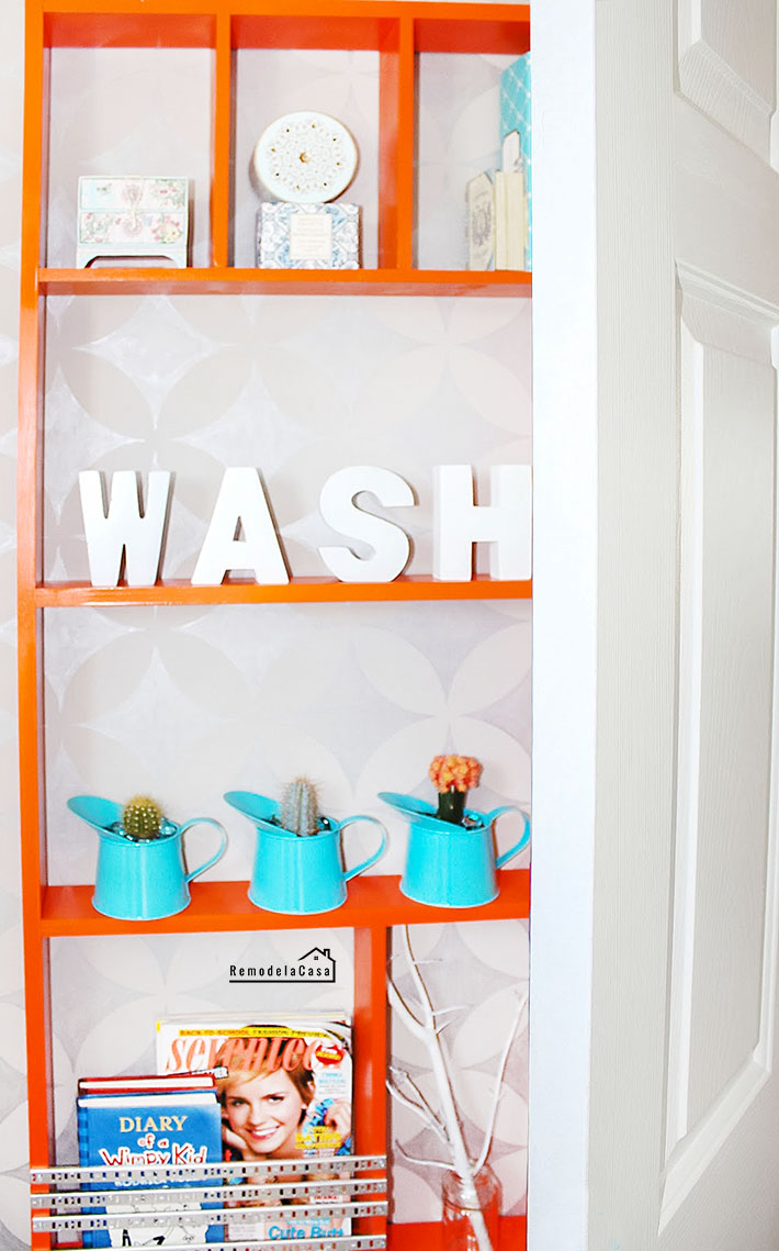 how to build a shelf for use behind a door