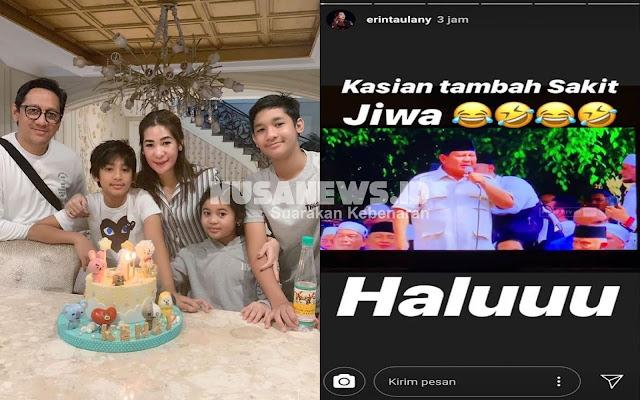Istri Andre Taulany Posting Foto Prabowo dengan Caption Sakit Jiwa, Terancam Dipenjarakan
