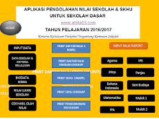 Download Aplikasi Pengolahan Nilai Sekolah & SKHU Untuk Sekolah Dasar 2016