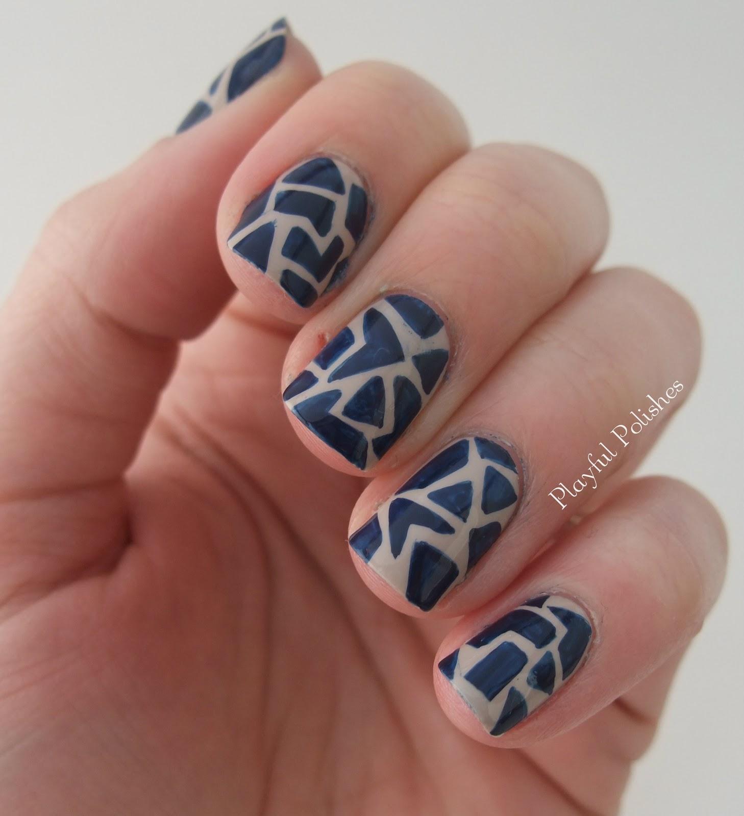 Nail Art February Challenge: Playful Polishes: JANUARY NAIL ART CHALLENGE: DAY 13