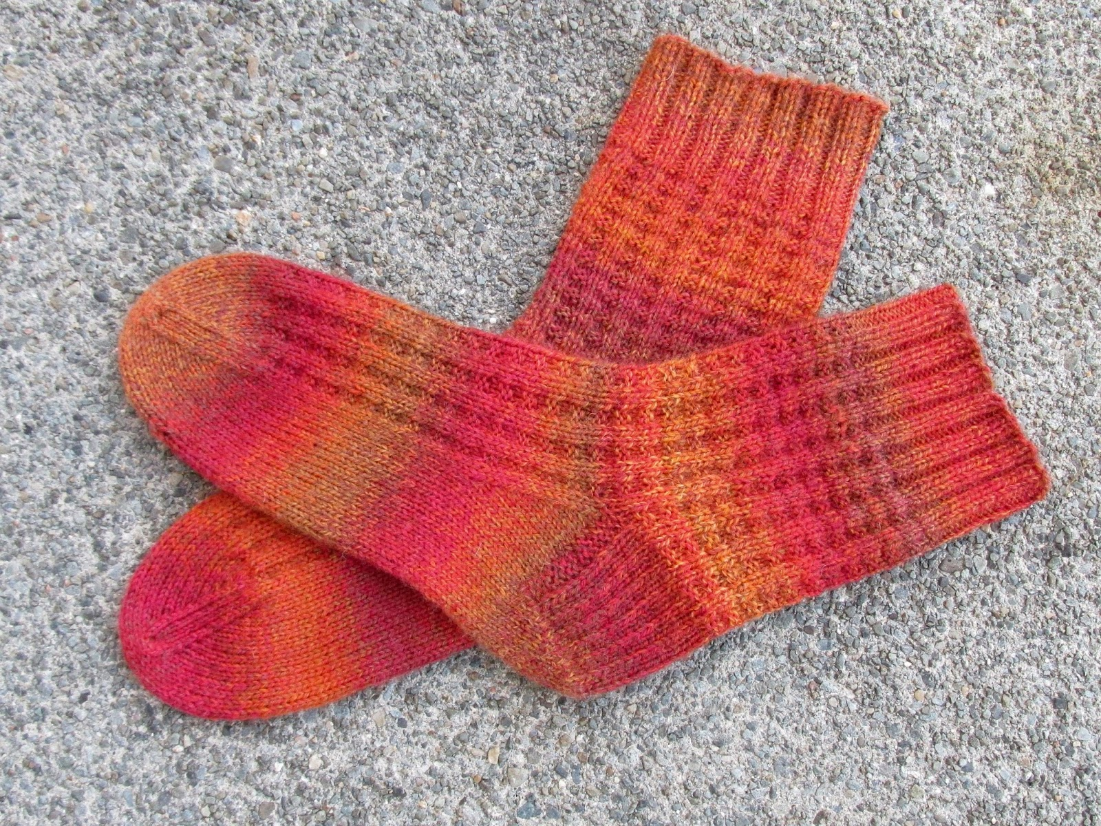 another pair of harris tweeds in the same yarn in casual colors these are for a christmas gift details here