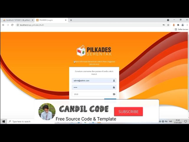 Source Code Aplikasi PILKADES Berbasis Website