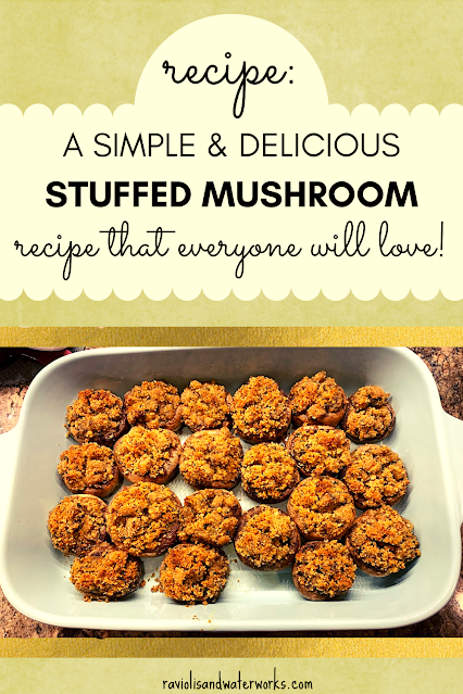 recipe for stuffed mushrooms with grated cheese