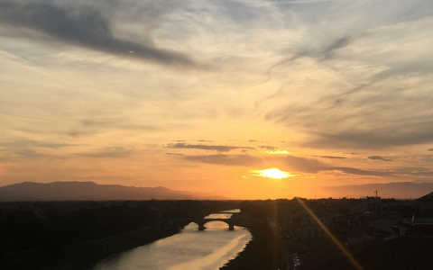 sunset river oro florence