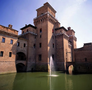 The Este Castle dominates the centre of Ferrara