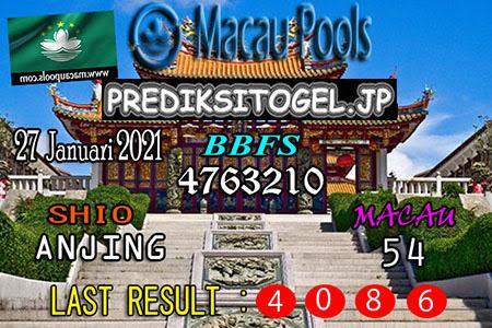 Prediksi Togel Pools Wangsit Macau Rabu, 27 Januari 2021