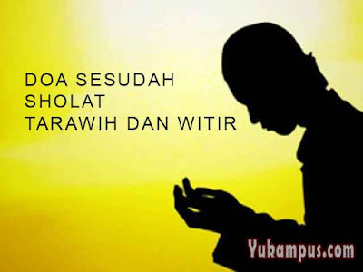 doa sholat tarawih dan witir