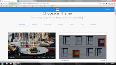 Membuat Blog Melalui Weebly