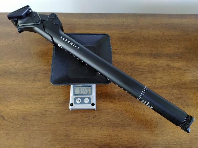 Peso do canote com suspensão Redshift Shockstop: 540 gramas