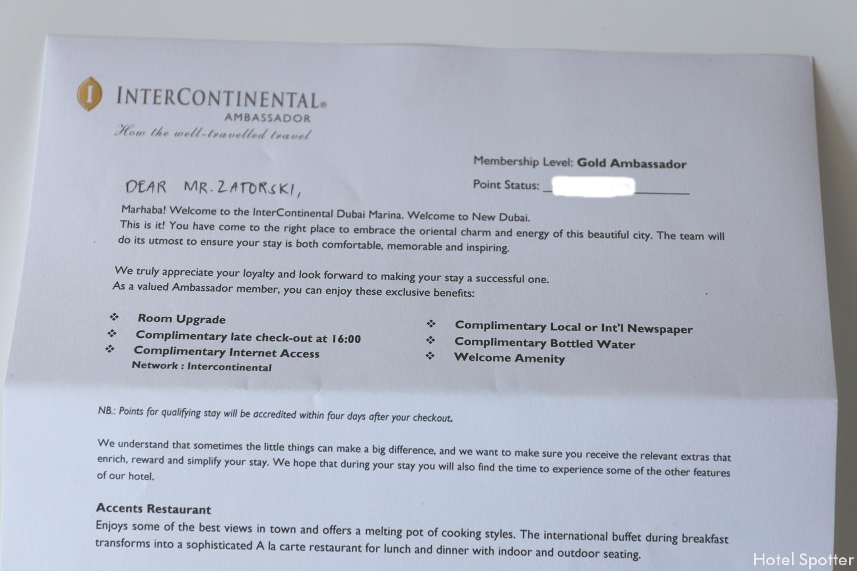 InterContinental Dubai Marina - recenzja hotelu - IHG Ambassador