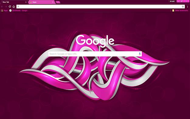 Purple Graffiti Google Theme