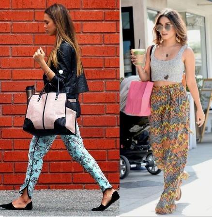 Jessica Alba, Vanessa Hudgens, Como usar calça estampada