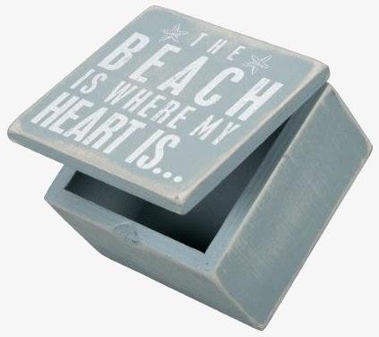 small beach box sign