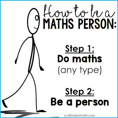 How to be a Maths Person poster