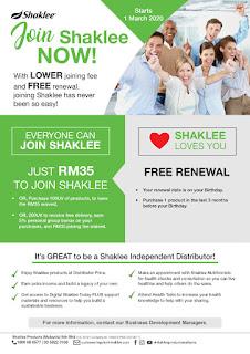 RM35 Harga Daftar Jadi Ahli dan Pengedar Shaklee Tahun 2020