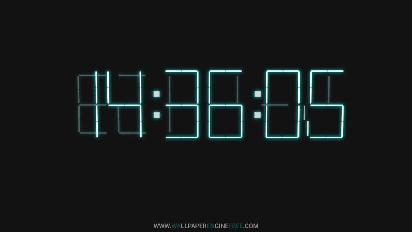 Downlaod 3D Digital Clock Wallpaper Engine | Download