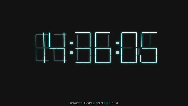 3D Digital Clock Wallpaper Engine