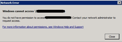 Happy SysAdm: Access denied to disk share on Windows 2012