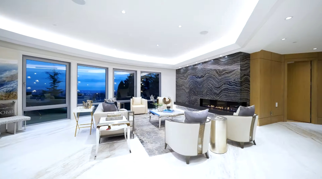 77 Interior Design Photos vs. 815 King Georges Way, West Vancouver, BC Ultra Luxury Mansion Tour