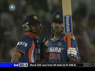 MS Dhoni 124 - India vs Australia 2nd ODI 2009 Highlights