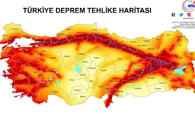 Türkiye'de Bulunan Fay Hatları