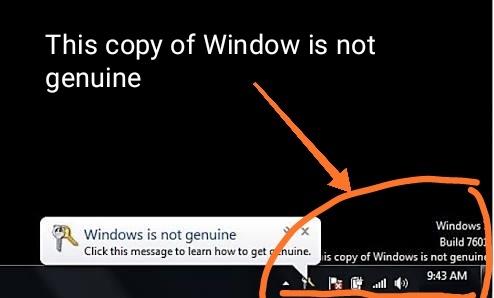 window is not genuine