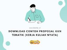 Download Contoh Proposal KKN Tematik (Kerja Kuliah Nyata)