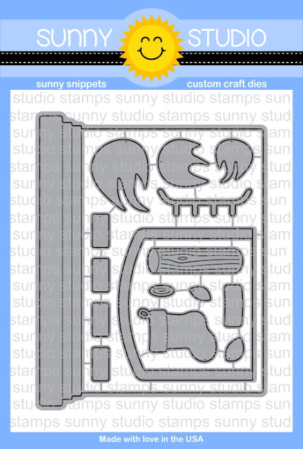 Sunny Studio Stamps: A2 Fireplace Shaped Card Steel Rule Die Set