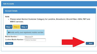 bsnl selfcare add connection verify image