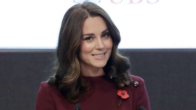 Kate Middleton Shows Off Her Growing Baby Bump, Talks the Struggle of Leaving Prince George at School
