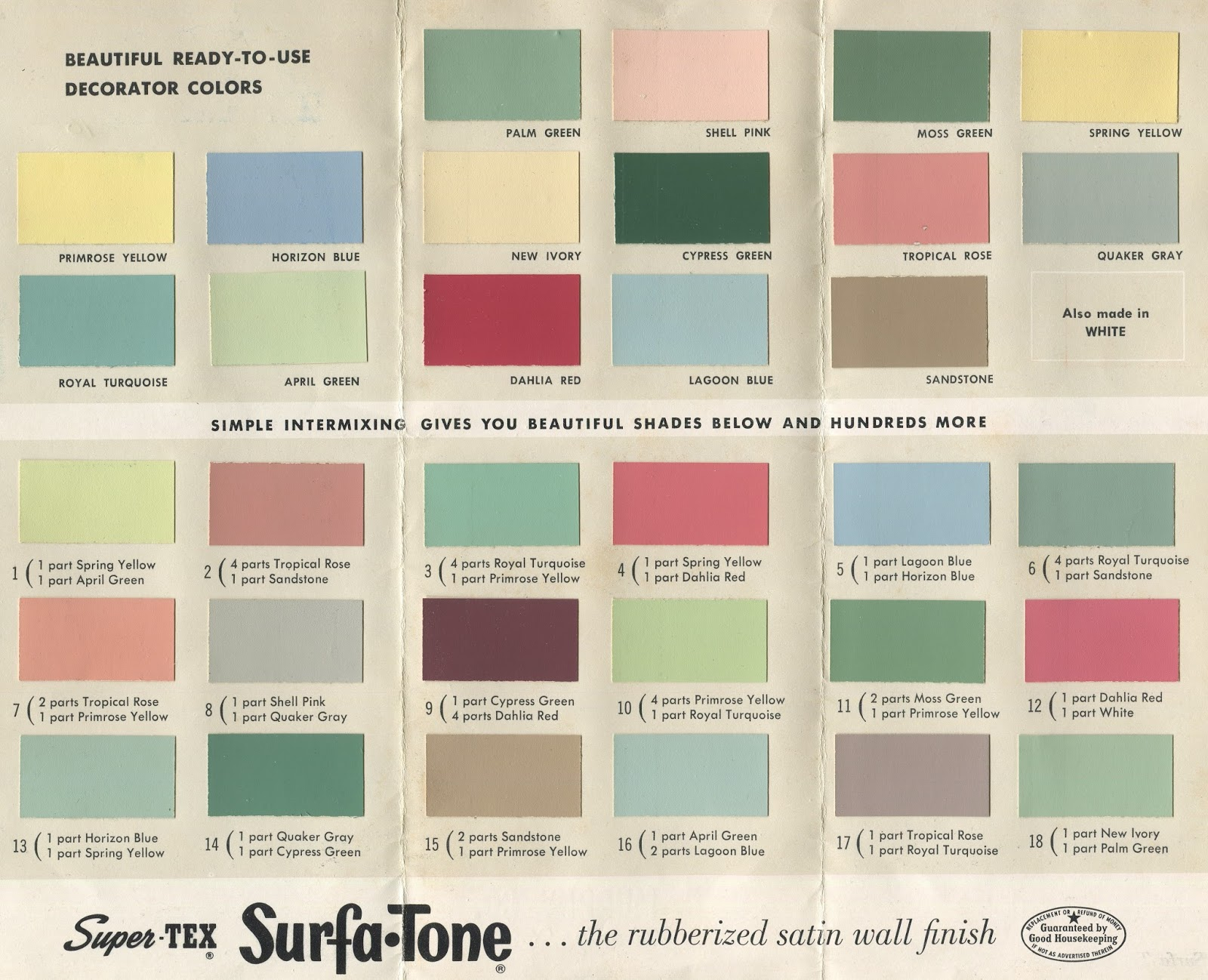 Dull Tool Dim Bulb SurfaTone Tex Products MidCentury Modern - Midcentury modern colors