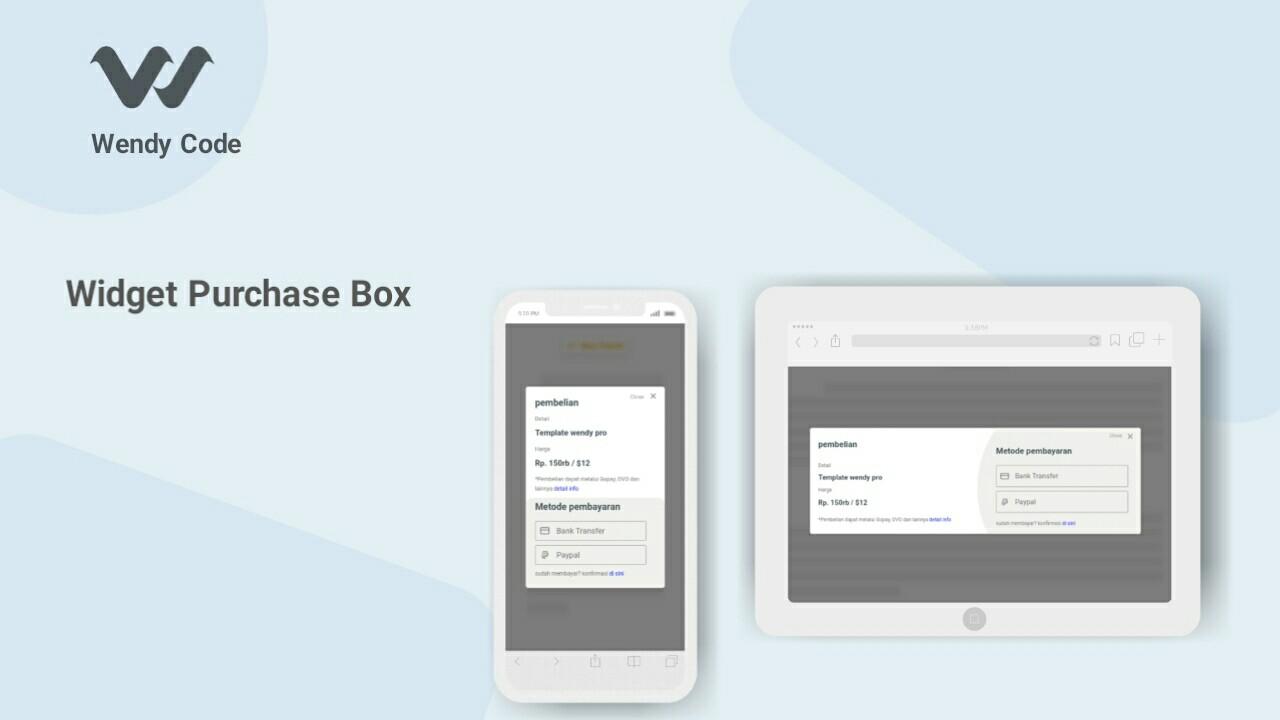 widget purchase box