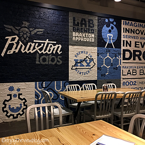 painted wall in Braxton Labs