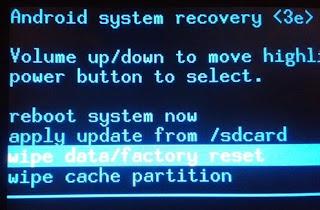 Cara Factory Reset Oppo Semua Type