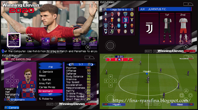 PES 2020 PPSSPP Mod Winning Eleven HD Camera Jauh