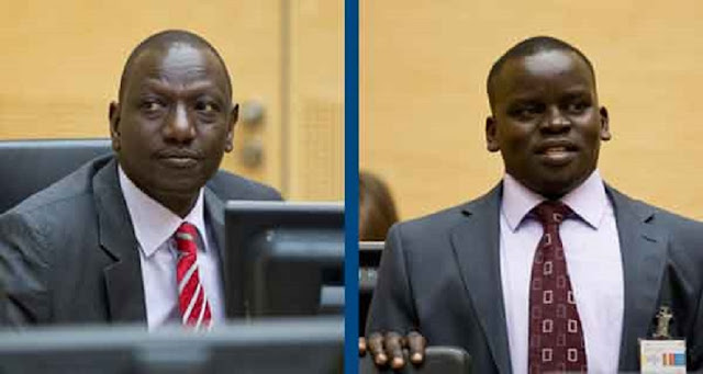 DP Ruto and journalist Sang