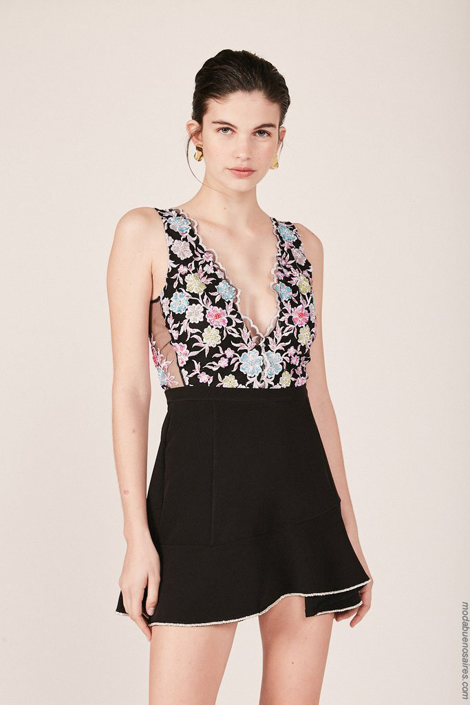 Bodys y faldas de moda mujer primavera verano 2020.