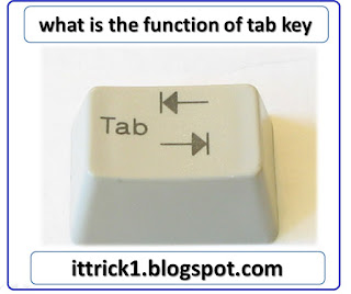 what is the function of tab key