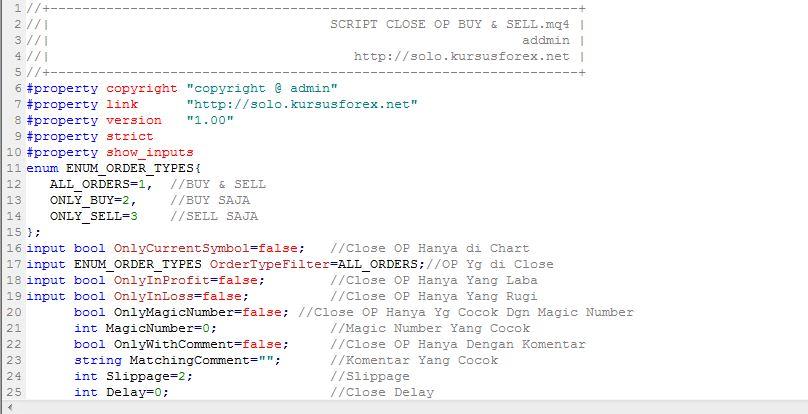 Cara Membuat Script Close OP Buy & Sell