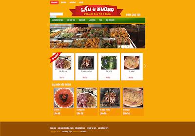 Mẫu website nhà hàng