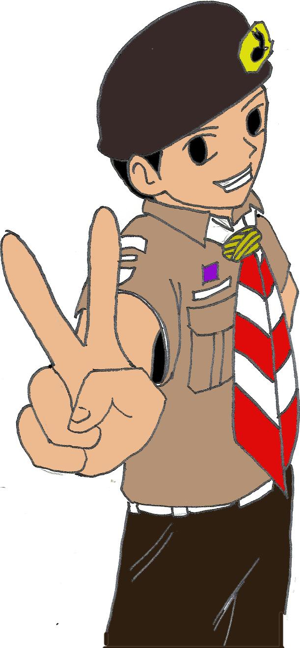 Gambar Animasi Kartun Pramuka Terbaru JUAL TOPI PRAMUKA MURAH